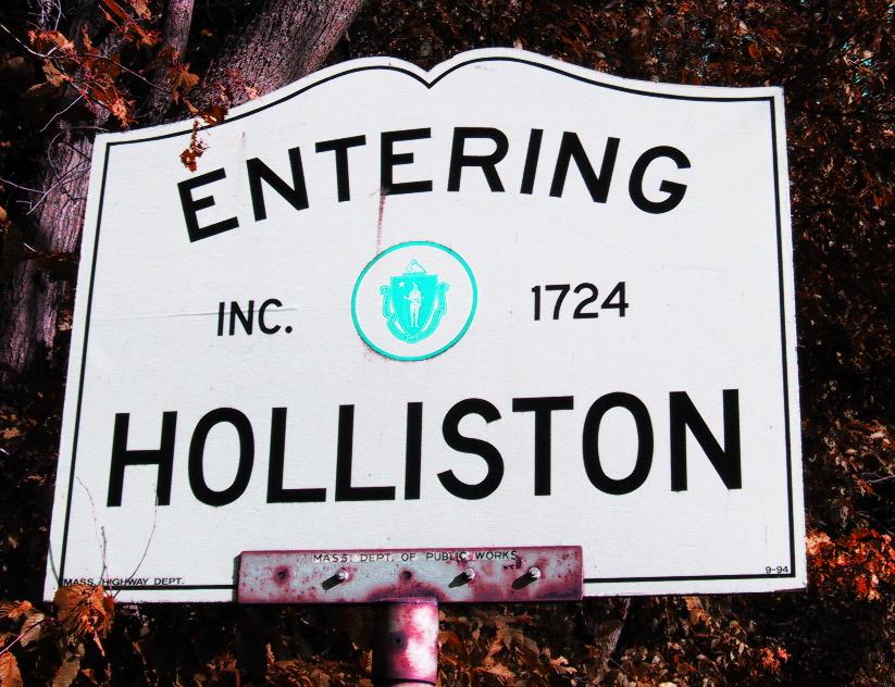 HOLLISTON sign