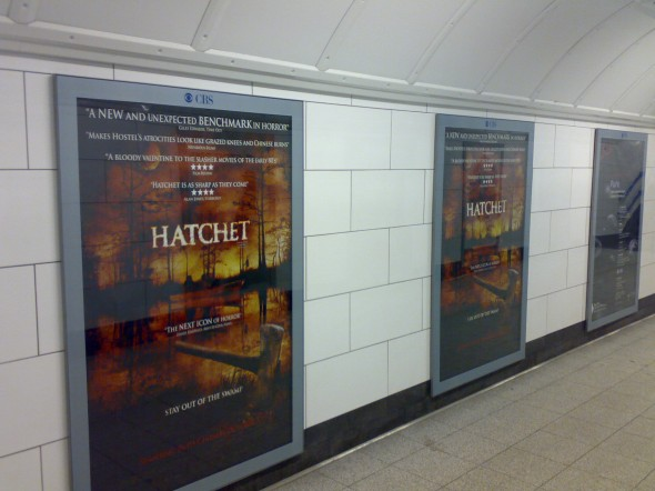 HATCHET UK giant subway print