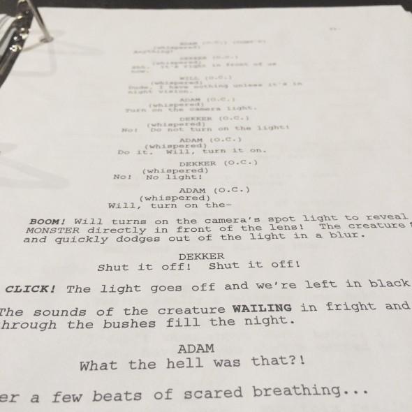 MARROW script page