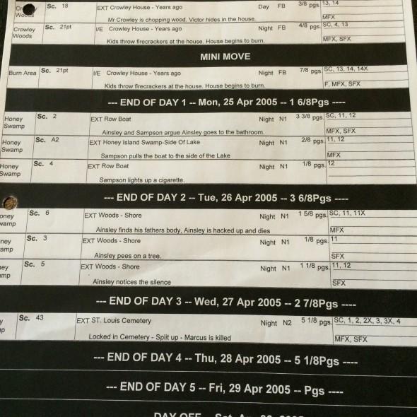 H1 schedule